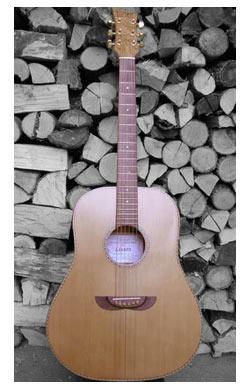 chitarra acusica oro mogano