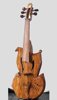 violino amplificato olivo
